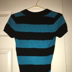 BONGO Tops - Black and Blue Stripes